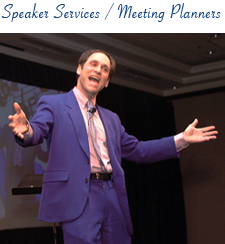 Speaker services and meeting planners